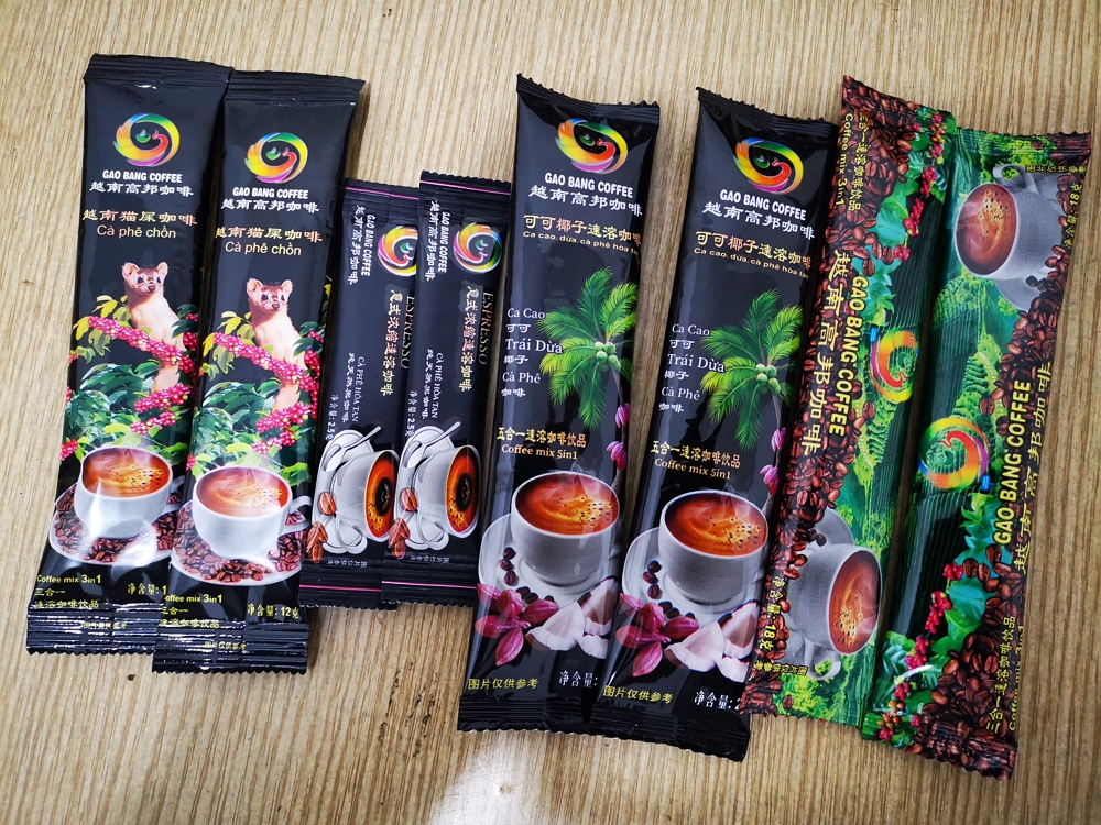 Best Quality GaoBang Black instant coffee 2.5 grams Vietnam refreshing instant drink sachets